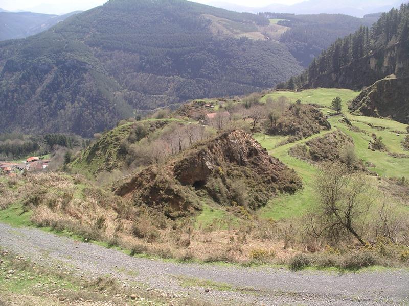 Vista de las minas de Alén