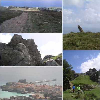 """Restos megalíticos, inmejorables vistas de Castro, vertiginosas bajadas y el castillo de """"los Templarios"""""""