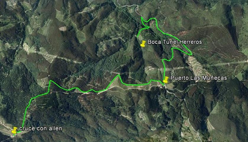 Ruta 3 Túnel de Herreros – Antigua vía Castro Urdiales-Alén (Ruta 4).