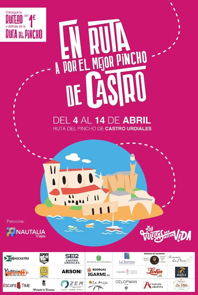 Cartel de la Ruta del Pincho de Castro Urdiales 2019