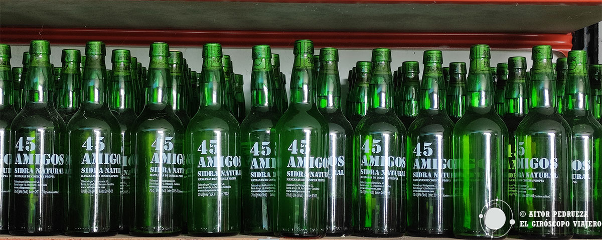 Sidra artesanal de 45 Amigos